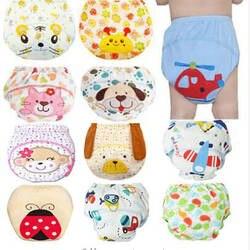1 шт. милые детские подгузники многоразовые подгузники тканевые пеленки моющиеся младенцев для маленьких детей хлопок Training брюки девочек
