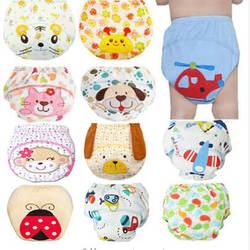 1 шт. милые детские подгузники многоразовые памперсы, тканевые Подгузники моющиеся для младенцев; Детские хлопковые тренировочные трусики