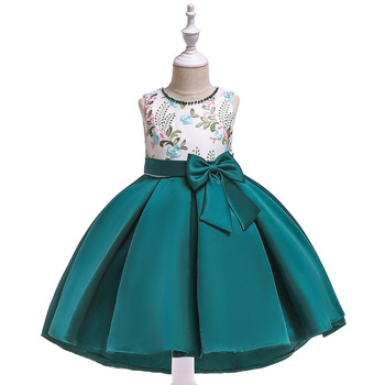 floral girls dress children princess dresses kids sailor collar a line preppy style school clothing high quality for 4y 12y A-Line Tank Kids Dresses For Girls Princess Wedding Party Dress Girl Clothes  Teenage Girl Frock Dress Children Clothing