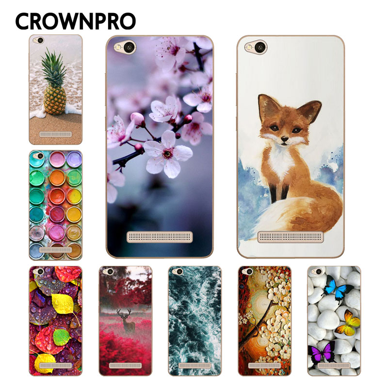CROWNPRO Soft TPU Redmi 4A Case Xiaomi Redmi 4A Case Cover Fashion Painting Back Protective Case FOR Xiaomi Redmi 4A Phone Funda