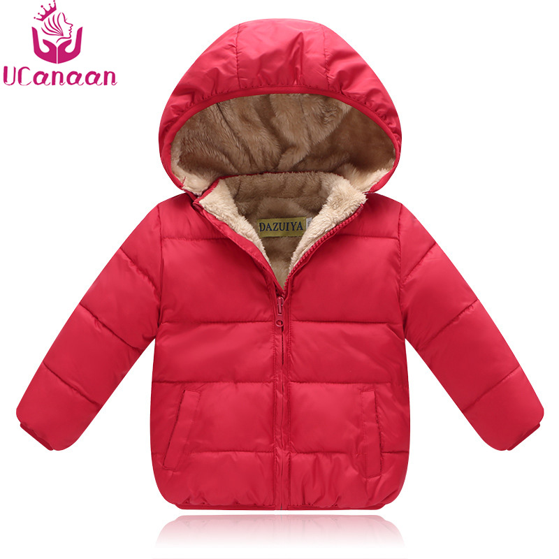 Boys Winter Jacket 80-110CM Thick Warm Children's Winter Jackets Kids Hooded Outwear Parkas For Girl Padded Infant Clothing boys winter jackets 80