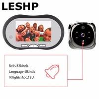 4 3 Inch HD Smart Door Peephole Viewer Video Record Door Viewers Camera IR Night Vision