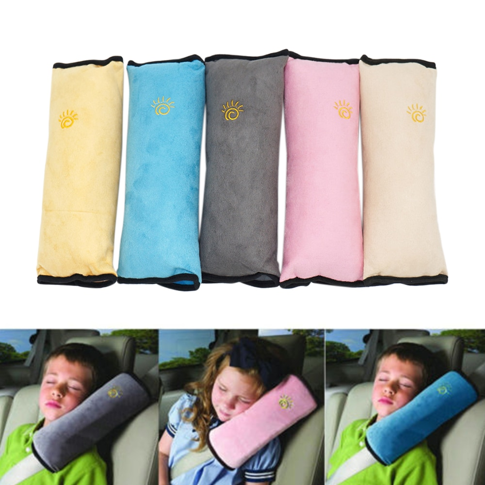 Car Safety Seat Belt Pillow Shoulder Strap Pad Cushions Head Supports Child Kid