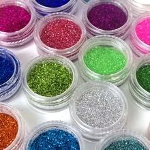 24 farbe Pailletten Sand für Nagel Glitter Pulver Nailart Glitter für Nägel Staub Pulver Glitter Nagel Lametta ZJ1317