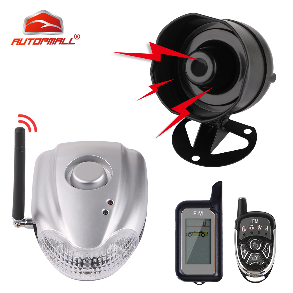 Two Way Car Alarm DIYV2 No Installation DIY Auto Security System with Wireless Alarm Siren and