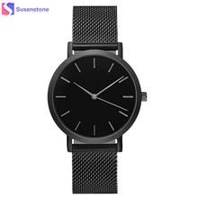 Men Women Fashion Stainless Steel Strap Analog Quartz Wrist Watch Luxury Simple Style Designed Bracelet Watches Women Clock
