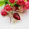 Crystal Spider Brooch Spille Da Donna Enamel Pins Cute Love Collar Tips Mujer Safety Metal Pin Rhinestone Brooches Women Brosche