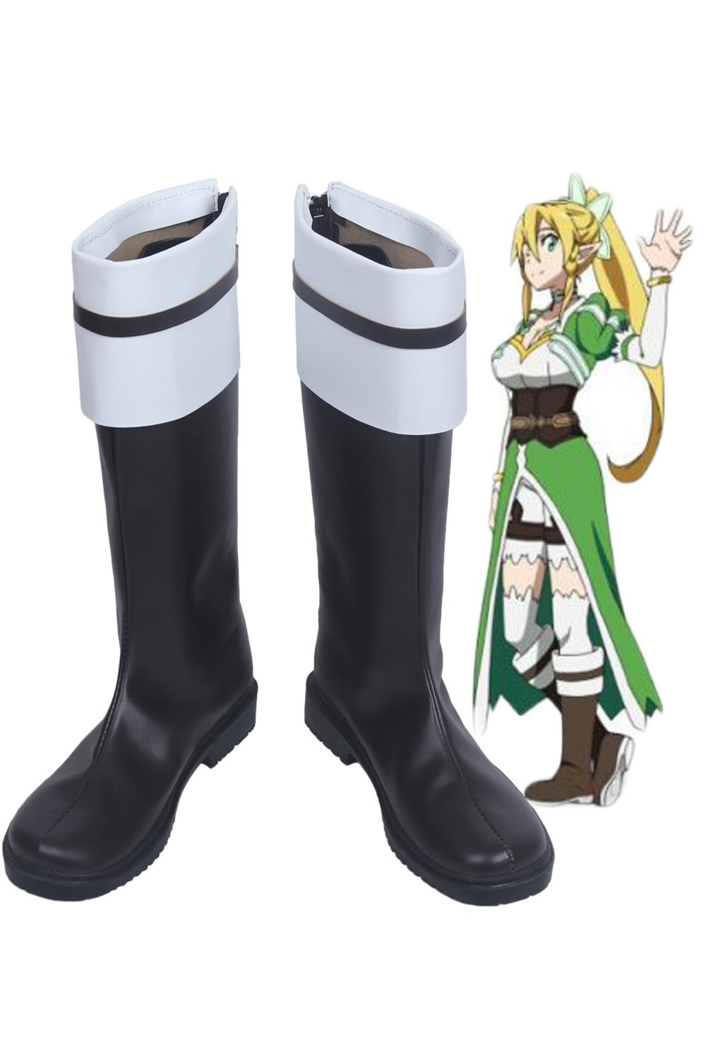 Leafa Shoes Cosplay Sword Art Online Kirigaya Suguha Cosplay Boots Shoes Custom Made Any Size