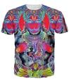 Поп-арт изображение half man Индуистского бога Ханумана Футболки женщины Мужчины 3d Случайные футболки Мода Одежда Лето Стиль Тис