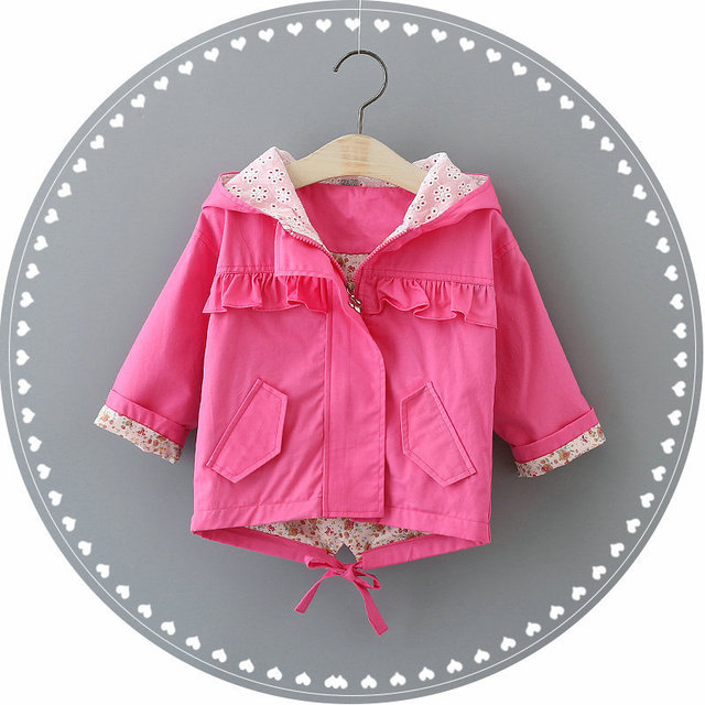 2016 NEW Girls Coat Jacket Spring Autumn Girls Cardigan Infant baby kids Lace Coat Children Outwear Coats free shipping