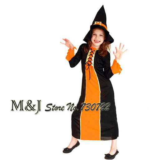 halloween cosplay costume show young girls performance witch suit wizard princess dress clothes in girls costumes from novelty special use on