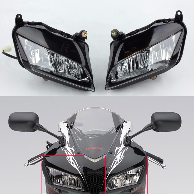 Motorcycle Front Headlight Head Light Lamp For Honda CBR600RR CBR 600RR 600 RR 2007 2008 2009 2010 2011 2012 07 08 09 10 11 12 motorcycle rear seat cover tail section fairing cowl for 2007 2012 honda cbr600rr 2008 2009 2010 2011 cbr 600rr 600 rr 07 08 09