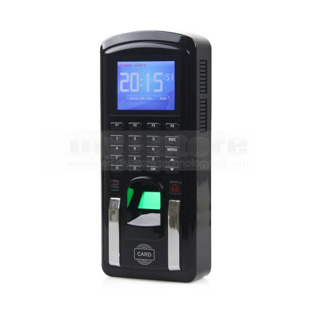 DIYKIT Biometric Fingerprint Access Controller And Attendance TCP IP With RFID ID Card Reader + USB MF151 zk iface701 face and rfid card time attendance tcp ip linux system biometric facial door access controller system with battery