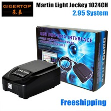 Freeshipping Мартин Свет жокей USB 1024 DMX 512 DJ Контроллер, Мартин lightjockey 3 Pin 1024 USB DMX Контроллер led свет этапа