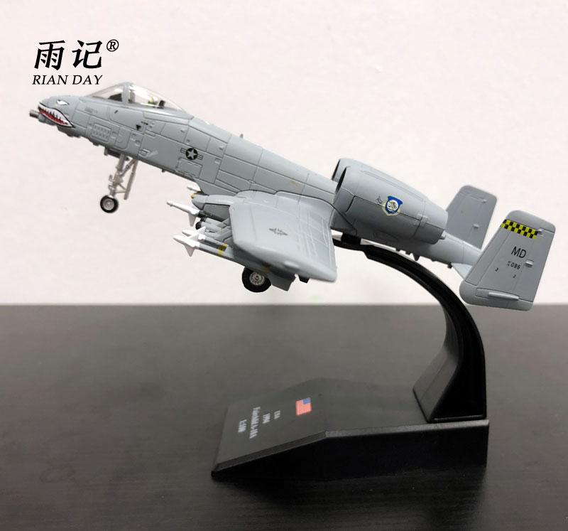 3pcs/lot Wholesale AMER 1/100 Scale Fairchild Republic A-10 Thunderbolt II Warthog Fighter Diecast Metal Plane Model Toy