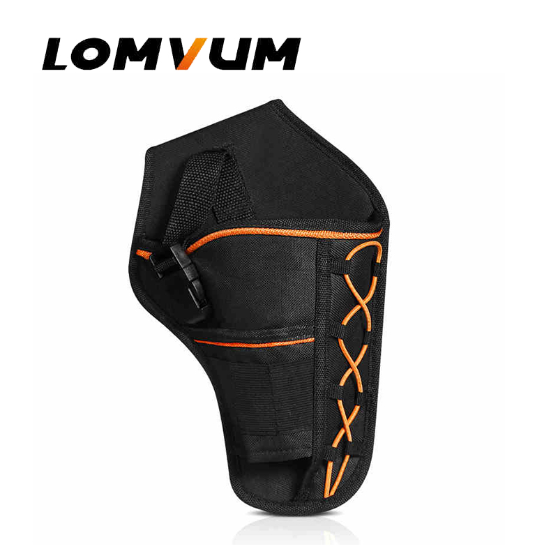 LOMVUM Electric Wrench waist pack tool set bag electric drill waist bag 20pcs m3 m12 screw thread metric plugs taps tap wrench die wrench set