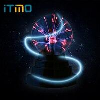ITimo Creative Magic Plasma Ball Light Electrostatic Induction Sphere Light Crystal Black Base Novelty Lighting USB