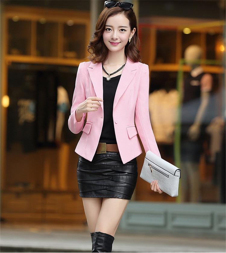J60136 модные Блейзер Офисные женские туфли костюм с длинным рукавом Для женщин куртка элегантные тонкие пальто Топы многоцветный высокое кач...