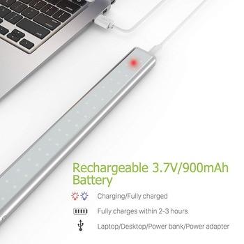 20/36/64 LEDs USB Aufladbare LED Unter Kabinett Licht PIR Motion Sensor Schrank Schrank Nacht Licht Für Schrank Schrank Küche