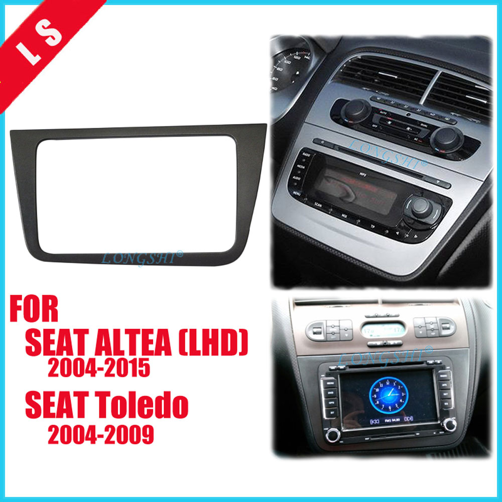 DOUBLE DIN Car font b Radio b font Fascia for SEAT Altea LHD Left Hand stereo