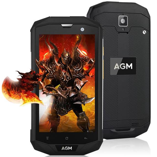 Оригинал AGM A8 4 г IP68 Водонепроницаемый Смартфон Android 7.0 5.0 дюймов MSM8916 4 ядра 1.2 ГГц 3 г + 32 г 13.0MP 4050 мАч Батарея телефон