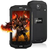 Original AGM A8 4G IP68 Impermeable Smartphone Android 7.0 5.0 pulgadas MSM8916 Quad Core 1.2 GHz 3G + 32G 13.0MP 4050 mAh Batería Del Teléfono