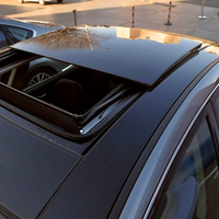Glossy Black Car Sunroof Wrap Roof Film Vinyl DIY Sticker Waterproof With Air Release 1.35m*15m/Roll