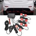 Car Parking Sensor Kit 4 Sensors For All Cars 13mm Reverse Assistance Backup Radar Monitor System Buzzing Sound