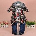 0-3Y new 2015 meninos outono conjuntos de roupas de moda de alta qualidade dos desenhos animados 3 pcs roupa dos miúdos conjuntos meninos capuz crianças casuais vestuário
