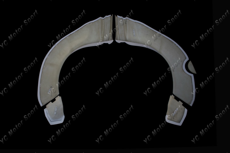 2011-2013 VW Scirocco R Karztrec Style Rear Over Fender Flare FRP (18)