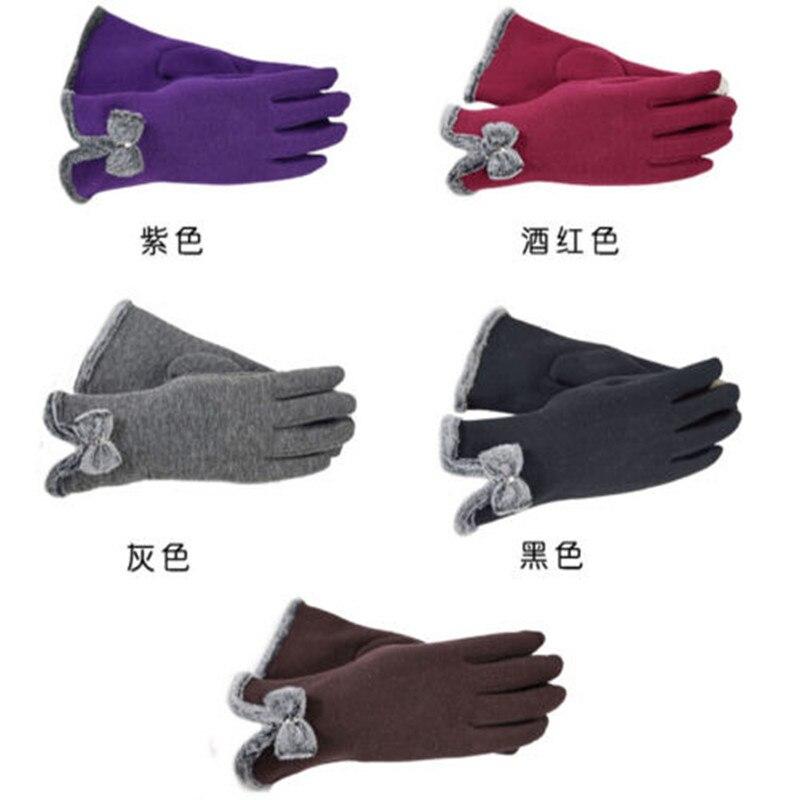 Women Fashion Winter Gloves Touch Screen Warm Gloves Outdoor Driving Gloves Mittens Gift