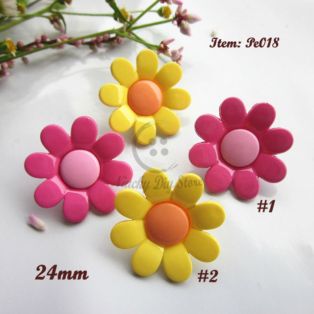 a08e90331 Bionic buttons 30pcs High class environmental sunflowers children ...