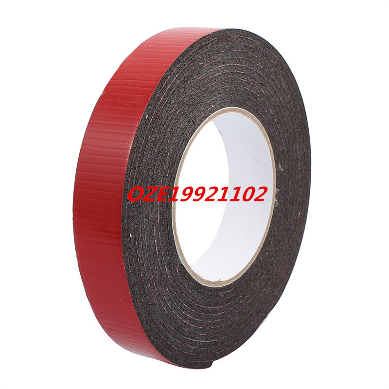 5M 25mm x 3mm Dual-side Adhesive Shockproof Sponge Foam Tape Red Black 1pcs 45mm x 5mm single sided self adhesive shockproof sponge foam tape 3 meters