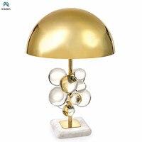 Постмодерное искусство деко Светодиодная настольная лампа пластины из золотистого металла блеск светодиодный потолочный акриловые шарик