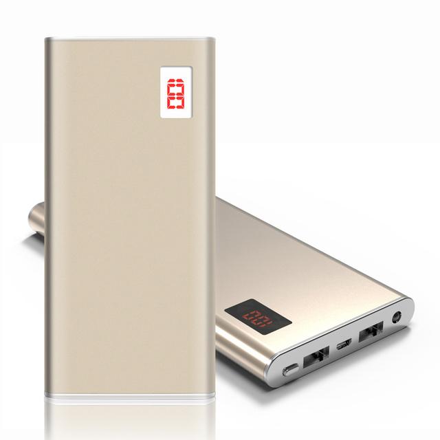 DCAE Ultra-fino Power Bank 12000 mah Dual USB Li-Polímero Bateria Externa Carregador Portátil powerbank Para todos telefone