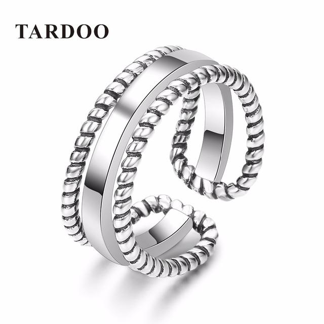 Tardoo Ocasional Na Moda 925 Prata Esterlina Anel de Esqueleto para Mulheres & Homens Manguito Ajustável Anéis Marca de Jóias Finas