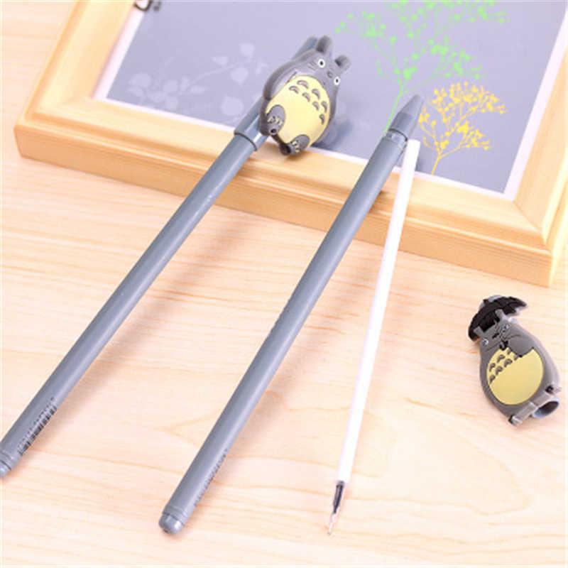 Novo kawaii desenhos animados totoro esferográfica gel canetas bonito criativo papelaria para estudantes material escolar caneta