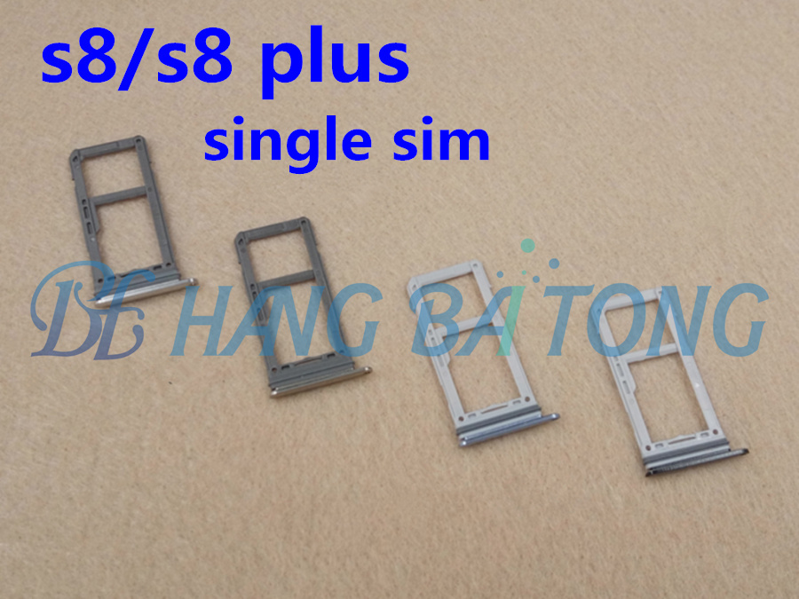 10 Stks Nieuwe Originele Voor Samsung Galaxy S8 Edge G950 S8 + Plus G955 Sim-kaartsleuf Sd-kaart Lade Houder Adapter Alle Kleur, Enkele Sim