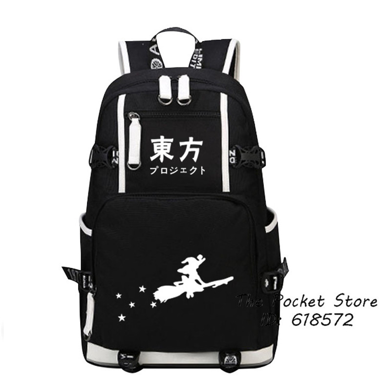 купить Anime TouHou Project Hakurei Reimu Kawaii Hakurei Reimu Printing Backpack Canvas School Bags Travel Bags Cartoon Laptop Backpack