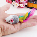 5Pcs/lot Soft Fleece False Mouse Cat Toys Colorful Feather Funny Playing Toys For Cats Kitten Newest 2016