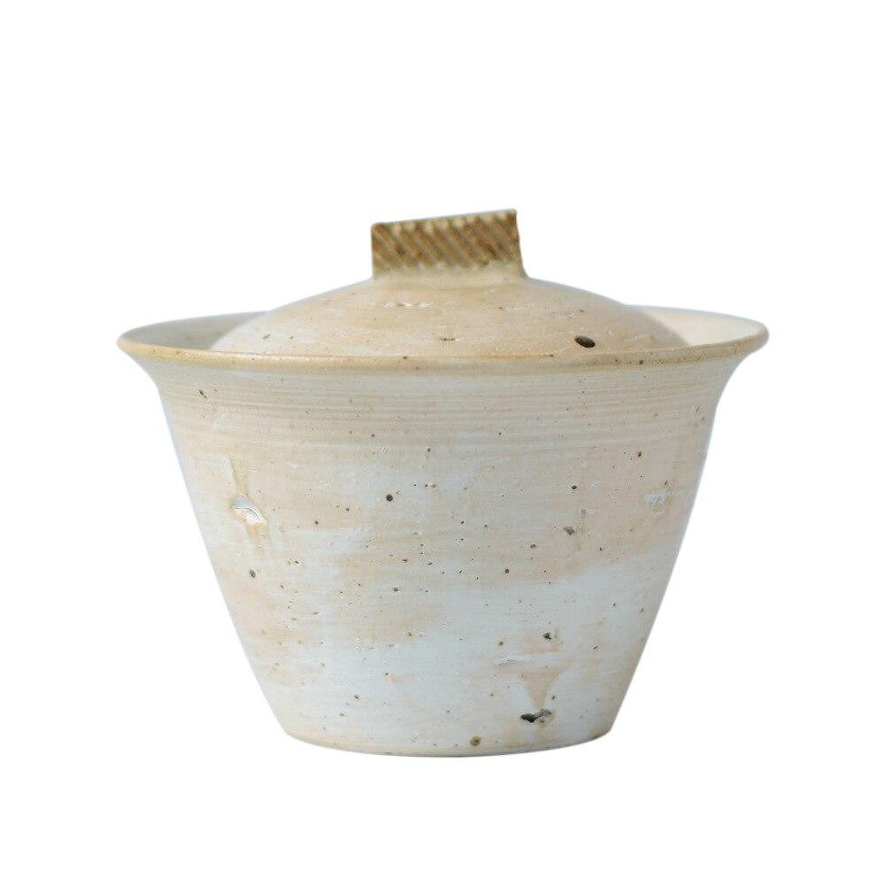Cuenco de cerámica de ingdezhen cuenco de plomo en polvo de cerámica grueso tazón esmaltado de hierba gris para caminar en la nieve serie tres únicos cuencos tazón de mano - 5