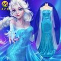 Princess Anna Elsa Princess Dress elsa Costume for Adult Snow Grow Princess elsa Halloween Women Cosplay Costume MZX-137-01
