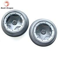 King Motor Baja Sand tire front completed set with black rim for HPI BAJA 5B Parts Rovan
