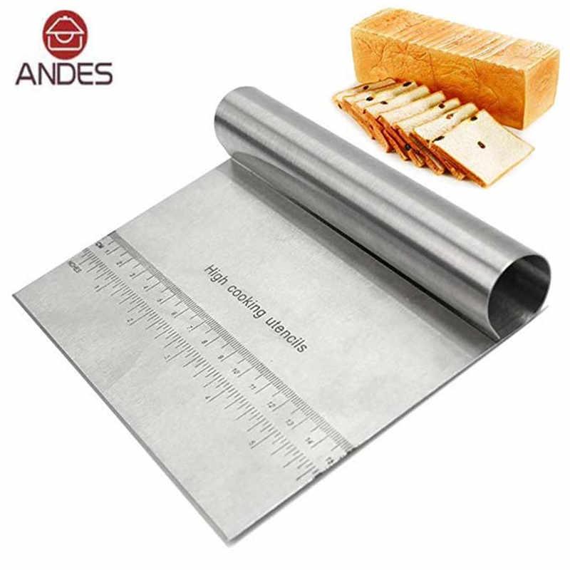 Stainless Steel Pizza Dough Scraper Cutter Fondant Cake Spatulas Cutters