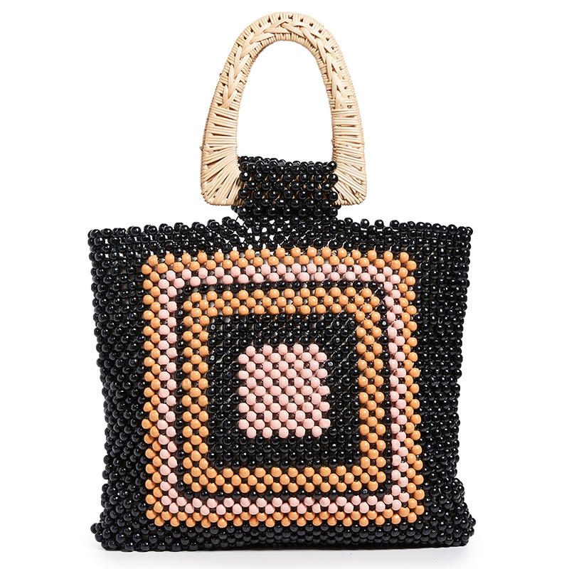 Round Acrylic Handbags Beads Shoulder Bags Summer Beach BagRound Acrylic Handbags Beads Shoulder Bags Summer Beach Bag