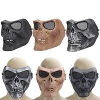 Creepy Skull Half Mask For CS Paintball Movie Party Cosplay Props Winter Warmer Motor Cycling Ski