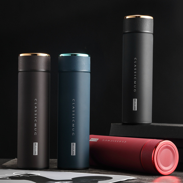 Vacuum Thermos Flasks with Temperature Display