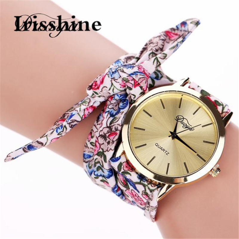 Duoya Irisshine Women Watches Lady Girl Luxury Gift Fashion Women's Flower Star Bow Wristwatch Scarf Band Party Wholesale #15