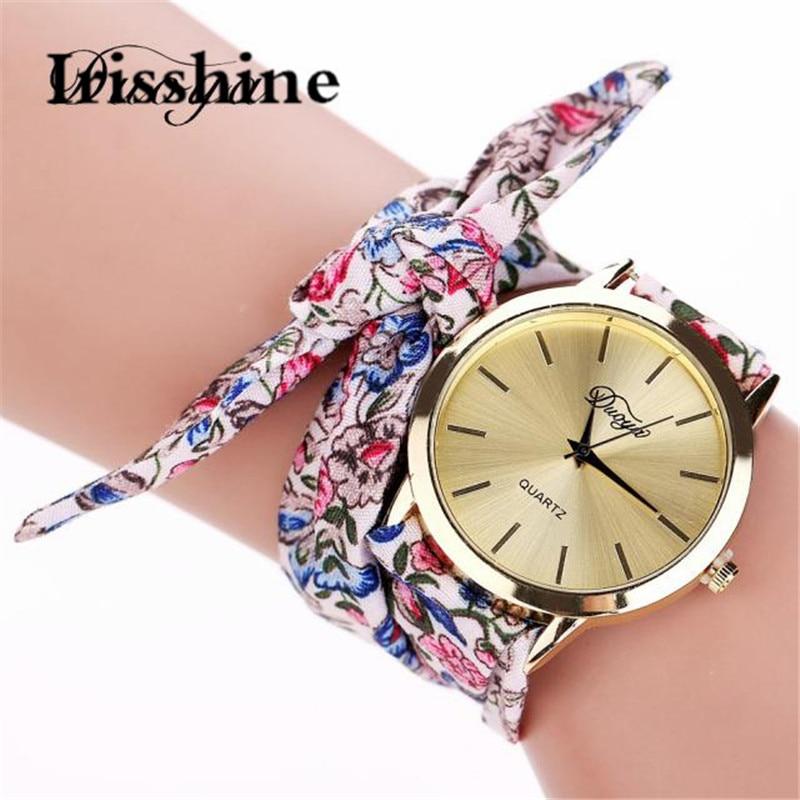 Duoya Irisshine Women Watches Lady Girl Luxury Gift Fashion Women's Flower Star Bow Wristwatch Scarf Band Party Wholesale #15