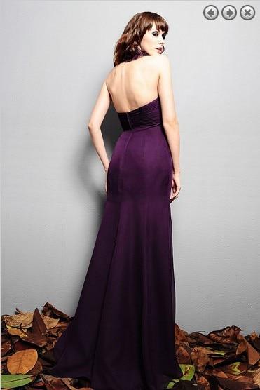 free shipping fashion 2016 elegant dress plus size brides maid vestidos formales purple long dresses chiffon Bridesmaid Dresses in Bridesmaid Dresses from Weddings Events